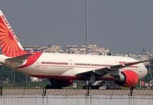 An Air India Ltd. aircraft on the tarmac at the Indira Gandhi International Airport in New Delhi | Bloomberg