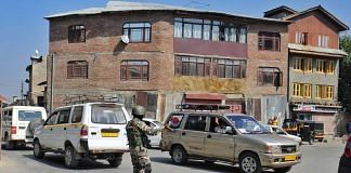 Security personnel in Srinagar | Suraj Singh Bisht | ThePrint