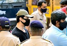 Aryan Khan, who was detained in connection with the raid at a party at a cruise off the Mumbai coast, at the NCB office in Mumbai, on 3 October 2021   ANI photo