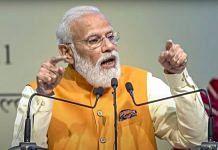 PM Narendra Modi at the Gati Shakti master plan event in New Delhi, on 13 October 2021 | PTI