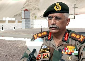 Army Chief General MM Naravane in Leh, on 2 October 2021 | ANI Photo