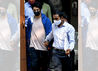 Aryan Khan, arrested in drugs case, at the NCB office after a medical check-up, in Mumbai on 6 October 2021 | Photo: ANI