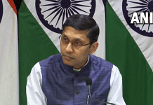File photo of MEA Spokesperson Arindam Bagchi during a media briefing in New Delhi| Twitter/@ANI