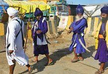 Nihang Sikhs at Singhu border | Representational image | Photo: Praveen Jain | ThePrint