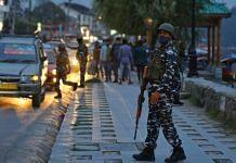 Security personnel in Srinagar, October 2021 | Suraj Singh Bisht/ThePrint