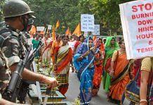 A protest in Tripura against communal violence targeting Hindus in Bangladesh | Representational photo | PTI