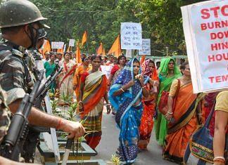 A protest in Tripura against communal violence targeting Hindus in Bangladesh   Representational photo   PTI