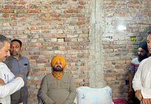 Congress leader Navjot Singh Sidhu starts a hunger strike at the slain journalist Raman Kashyap's house, in Lakhimpur Kheri on 8 October 2021 | ANI photo