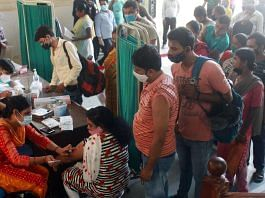Representational image   At a government vaccination centre in Gurugram on 1 October 2021    Photo: PTI