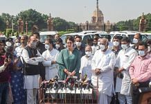 Congress delegation members address media after a meeting with President Ram Nath Kovind on the Lakhimpur Kheri incident, in New Delhi on 13 October 2021| PTI
