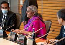 Finance Minister Nirmala Sitharaman during a meeting with World Bank Group David Malpass in Washington D.C on 15 October 2021 | Twitter/@FinMinIndia