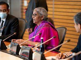 Finance Minister Nirmala Sitharaman during a meeting with World Bank Group David Malpass in Washington D.C on 15 October 2021   Twitter/@FinMinIndia
