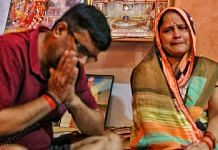Vijay Mishra and Sushma Mishra, the parents of BJP worker Shubham Mishra   Photo: Praveen Jain/ThePrint