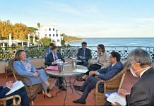 Union Minister Piyush Goyal at a bilateral meeting with UK Secretary of State for International Trade, Anne-Marie Trevelyan (second from right), on the sidelines of the G-20 Trade Ministers' meet in Italy | Twitter/@PiyushGoyal