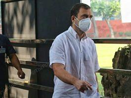 Rahul Gandhi arrives at the Congress headquarters on Akbar Road in New Delhi ahead of the CWC meeting Saturday | Photo: Praveen Jain/ThePrint