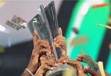 The ICC Men's T20 World Cup trophy | Twitter/@T20WorldCup