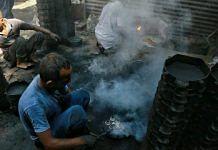 At a brass smelting and casting unit in Uttar Pradesh's Moradabad district | Photo: Manisha Mondal/ThePrint