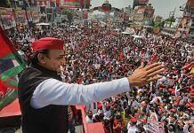Samajwadi Party President Akhilesh Yadav during the Samajwadi Vijay Yatra in Kanpur, on 12 October 2021 | PTI