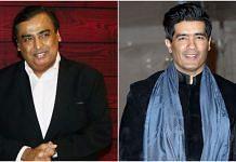 File photo of Mukesh Ambani (L) and Manish Malhotra