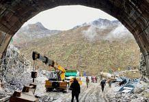 Work ongoing at the under-construction Sena Tunnel in Arunachal Pradesh.   Photo: Nirmal Poddar/ThePrint