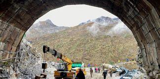Work ongoing at the under-construction Sena Tunnel in Arunachal Pradesh. | Photo: Nirmal Poddar/ThePrint