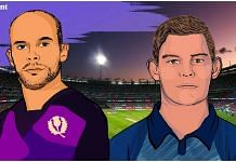 Scotland captain Kyle Coetzer (left) and Namibia captain Gerhard Erasmus will lead their teams against India in the Super 12 stage | Illustration: Prajna Ghosh
