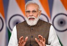 Prime Minister Narendra Modi speaks through video conferencing during an event in New Delhi on 20 October 2021 | PTI