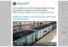 BJP Rajya Sabha MP Prakash Javadekar's tweet contained a video of a coal-carrying trainPhoto: Twitter | @PrakashJavdekar