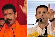 (Left to Right) Karnataka BJP President Nalin Kumar Kateel and senor Congress leader Rahul Gandhi   Photo: PTI