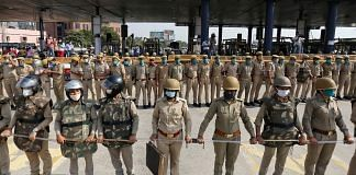 Representational image.   A file photo of UP Police personnel.   Photo: ANI