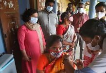 A medic administers Covid vaccine to a beneficiary in Kanyakumari, on 10 October 2021   PTI Photo
